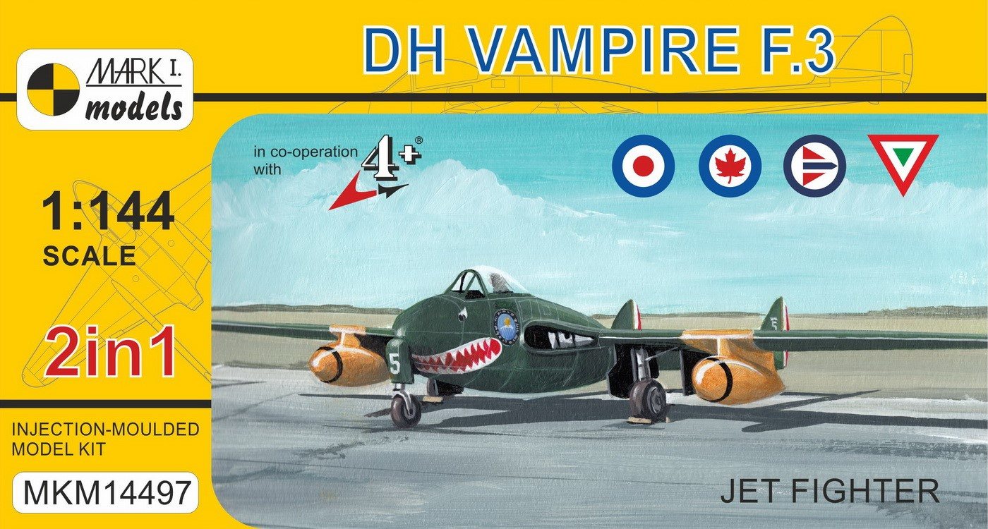 DH Vampire F.3 'Jet Fighter' (2in1)
