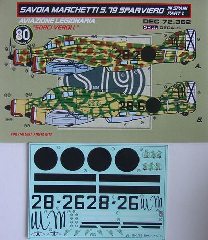 Decals SM.79 Sparviero in Spain Vol.1