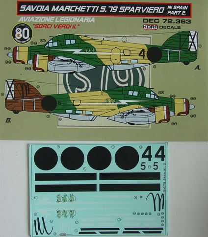 Decals SM.79 Sparviero in Spain Vol.2