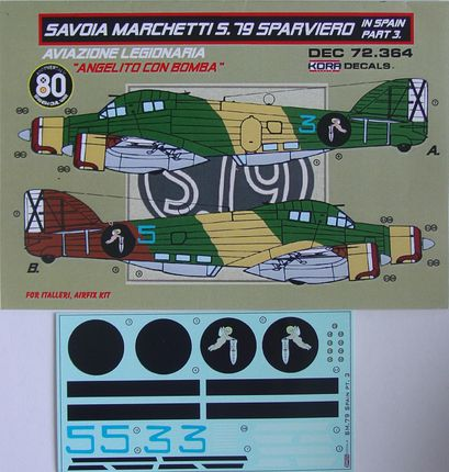Decals SM.79 Sparviero in Spain Vol.3