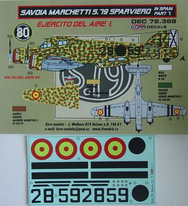 Decals SM.79 Sparviero in Spain Vol.7