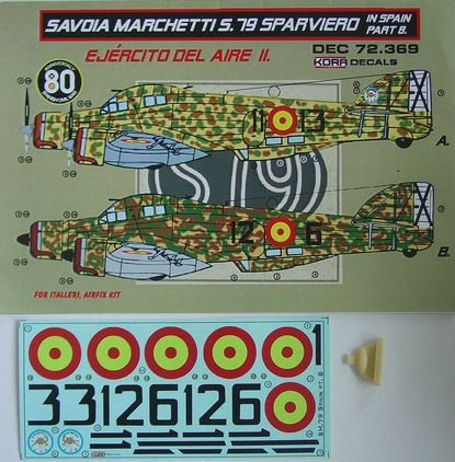 Decals SM.79 Sparviero in Spain Vol.8